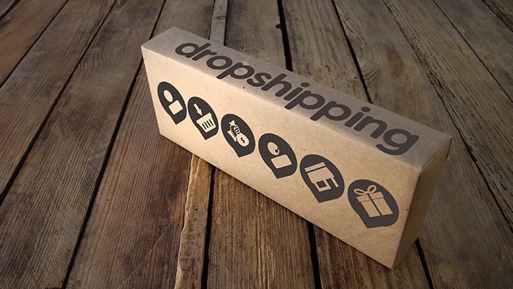box with dropship written on it